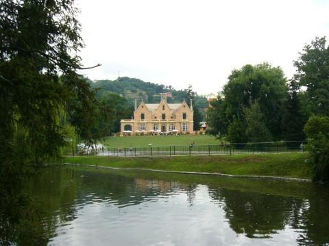 Una veduta di Villa Serra