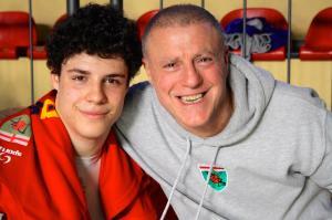 Filippo con papà Fabrizio