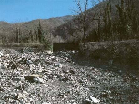 Il tratto di fiume dopo l'alluvione